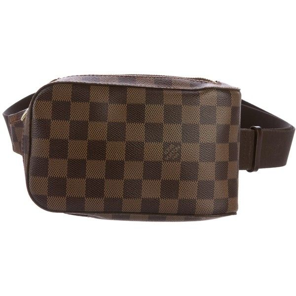 5ca22e44a016 Pre-owned Louis Vuitton Damier Ebene Geronimos Waist Bag ( 695) ❤ liked on Polyvore  featuring bags