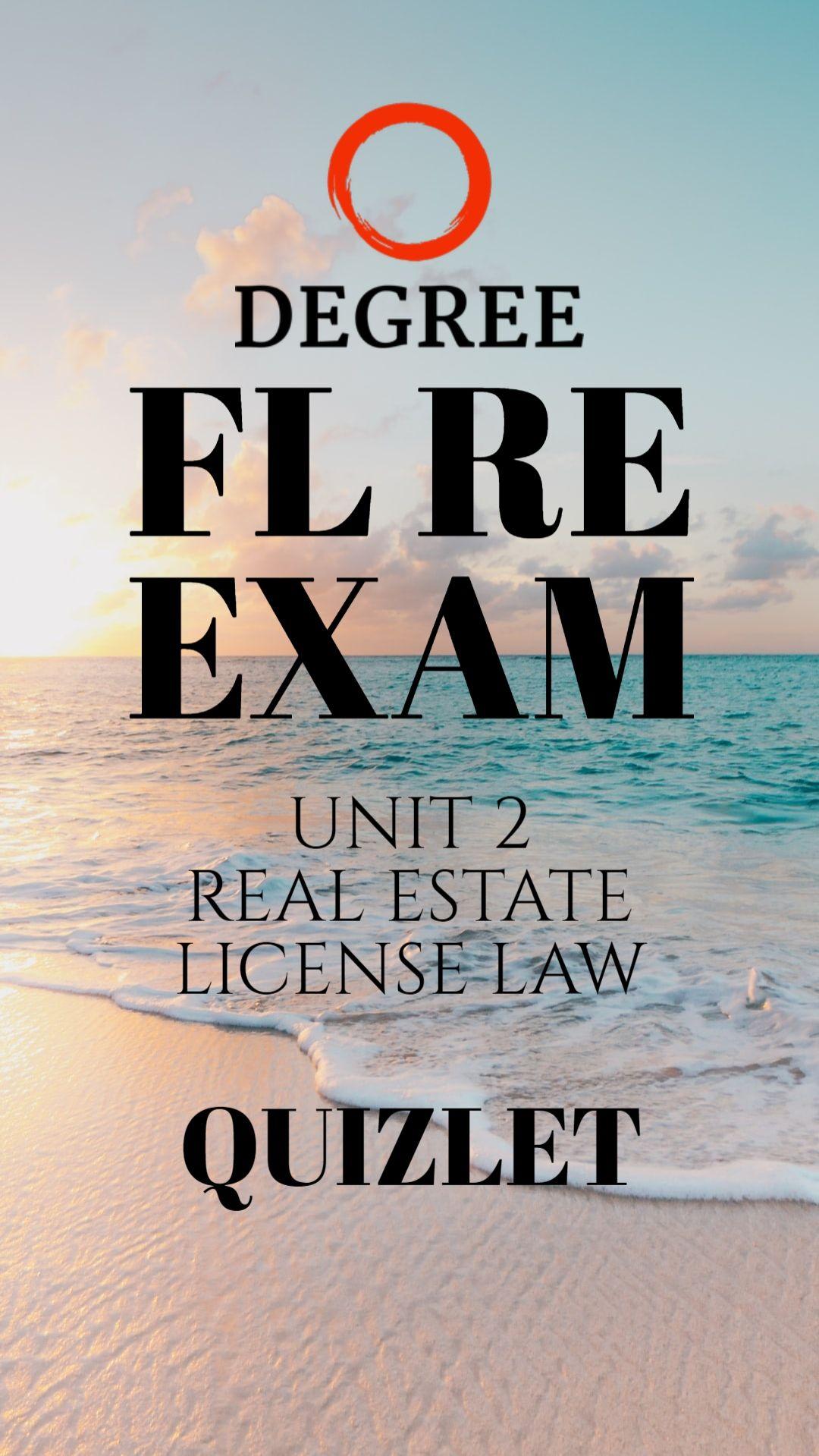 Fl Real Estate Exam Quizlet In 2020 Real Estate Exam Real Estate License Florida Real Estate