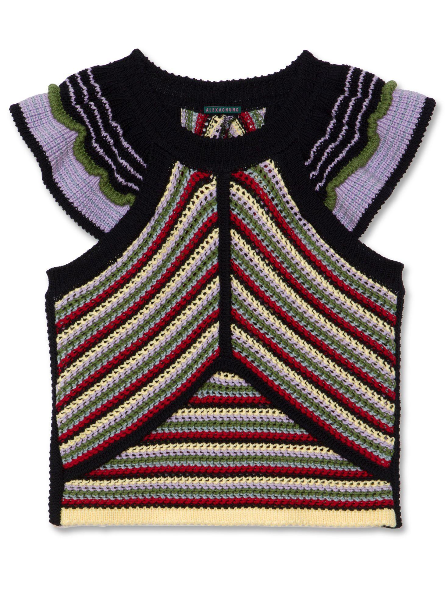 7971204932c Mixed Crochet Top