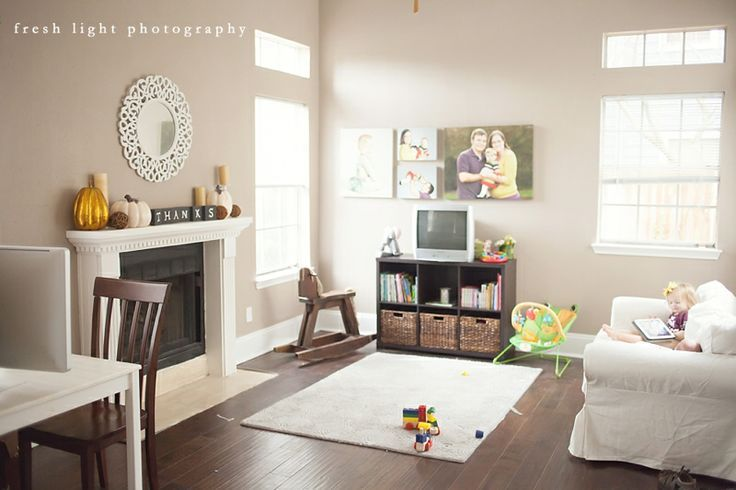 Sherwin Williams Perfect Greige Simple And Clean Home Home Decor Home Projects #perfect #greige #living #room
