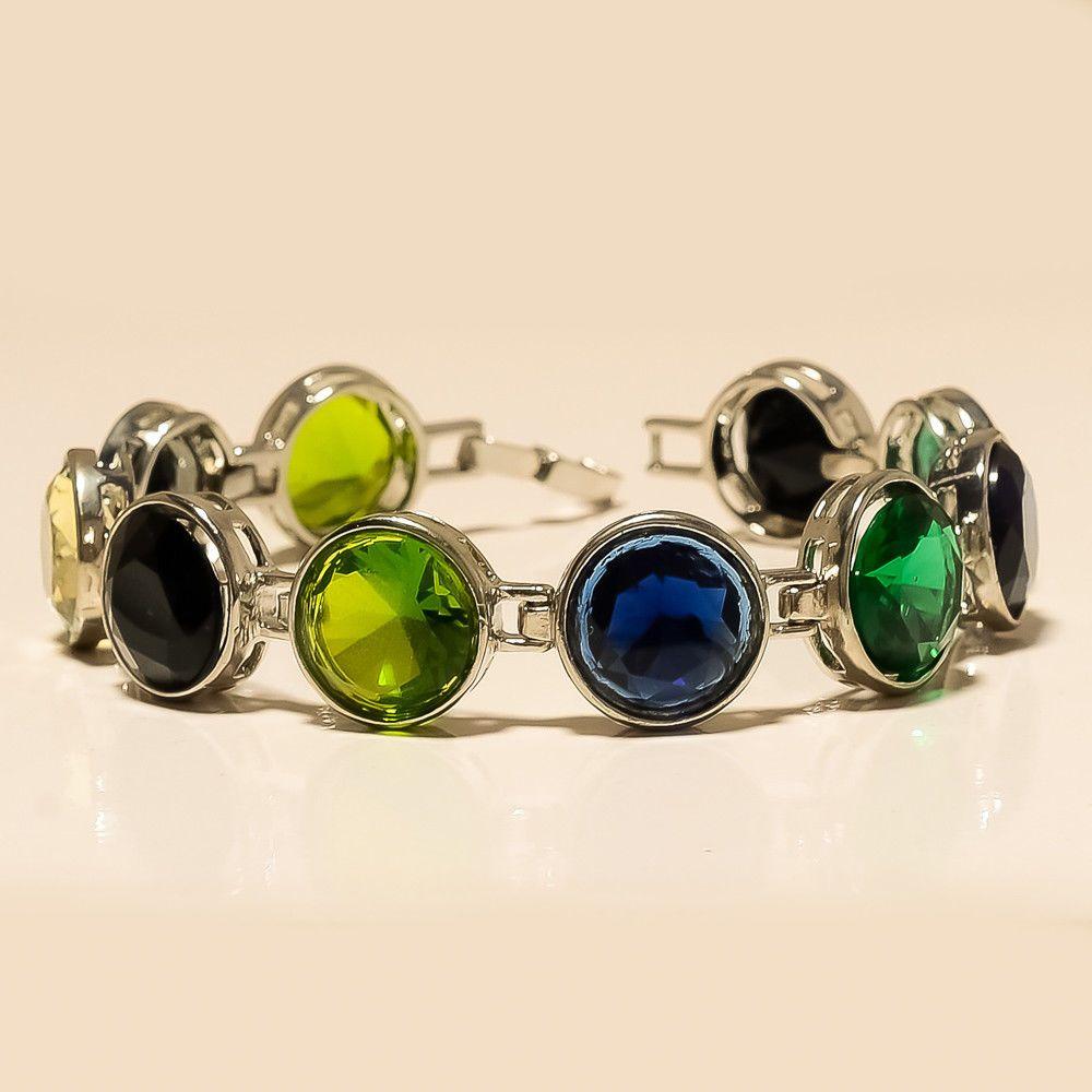 Details about bracelet leather infinity gemstone jewelry women