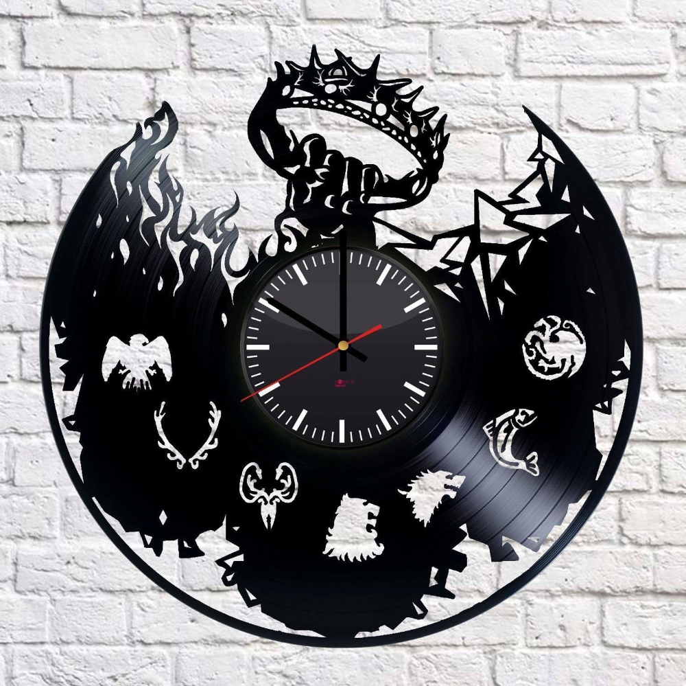 US SHIPPING Game of Thrones Vinyl Record Wall Clock Etsy