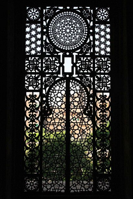 Decorative window screen- Cairo, Egypt by Fred Vedder, via Flickr
