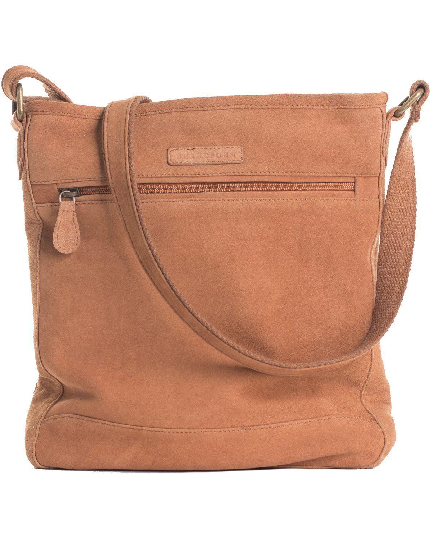 153fb85d5e45 Brakeburn Large Zip Saddle Bag - Brown Suede