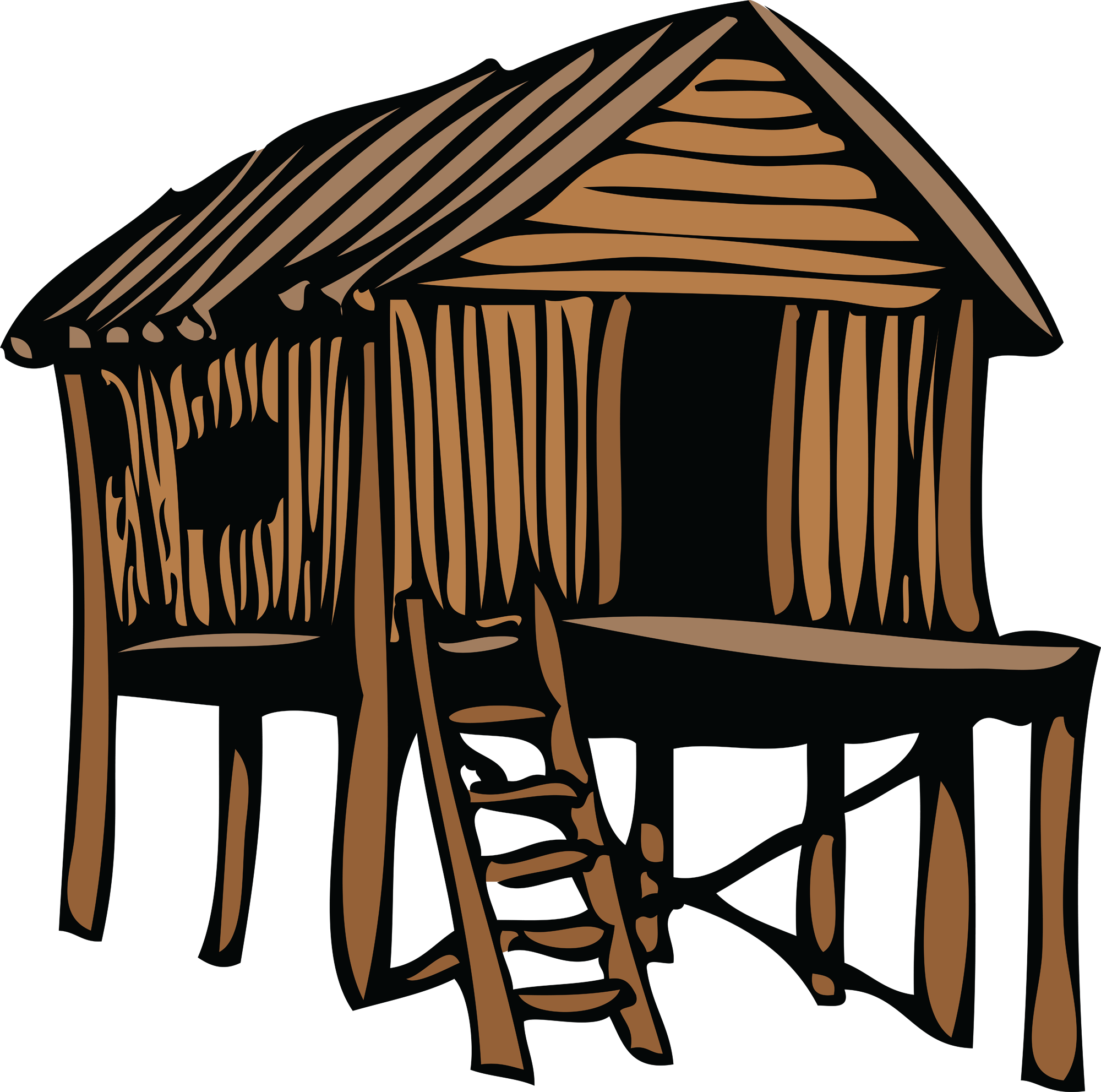 Active And Passive Voice Shack House House Clipart [ 1983 x 2000 Pixel ]