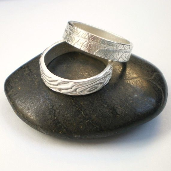 Silver Leaf Ring Silver Faux Bois Ring Silver by AliBaliJewellery, $95.00