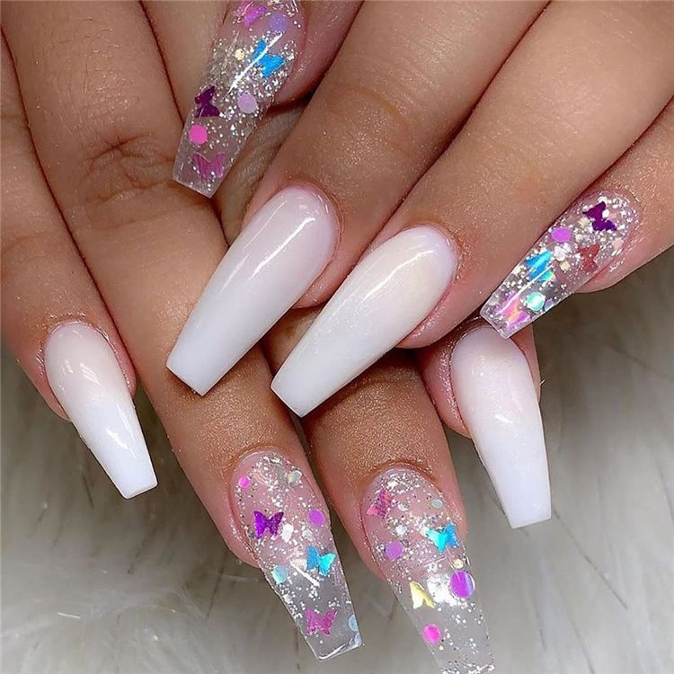 Stunning And Gorgeous Summer Coffin Acrylic Nail Designs For Your Inspiration Summer Coffin Acryl Best Acrylic Nails Pretty Acrylic Nails Coffin Nails Designs