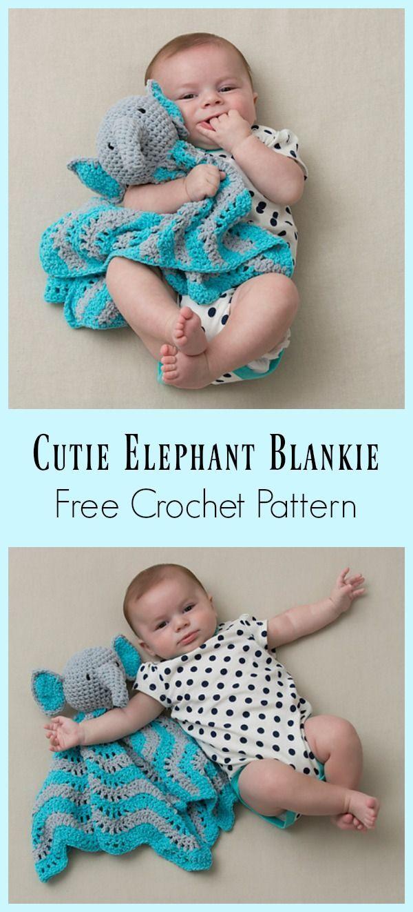 Cutie Elephant Blankie Free Crochet Pattern | Pinterest