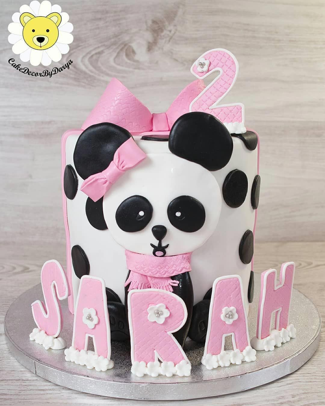 Little Panda Baby Girl Birthday Cake To Make An Order Please