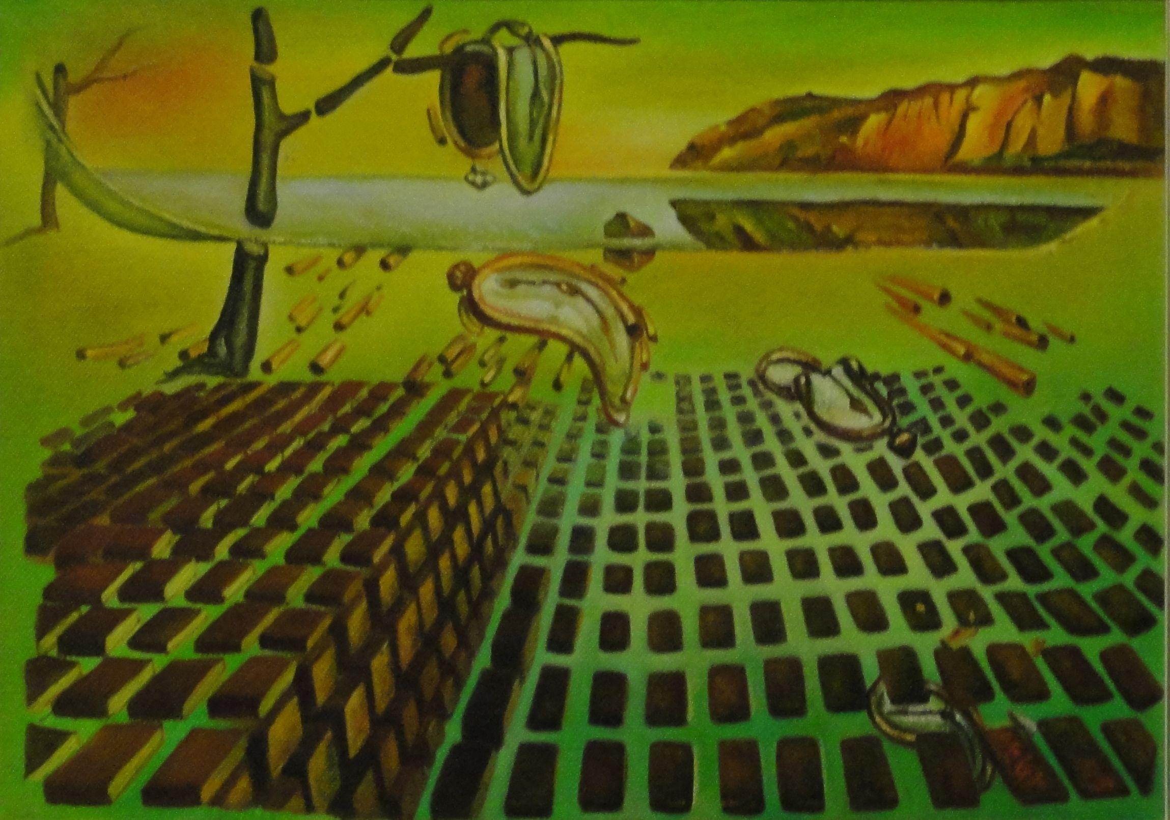 """""""Desintegração"""" - Pintura a óleo sobre tela (Adaptação) (*)"""
