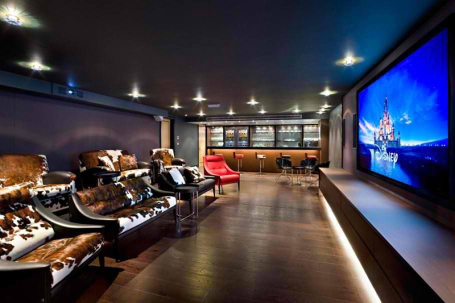 stunning home theater rooms inspire decoholic kitchen snack bar seating upholstered seats traditional kitchen