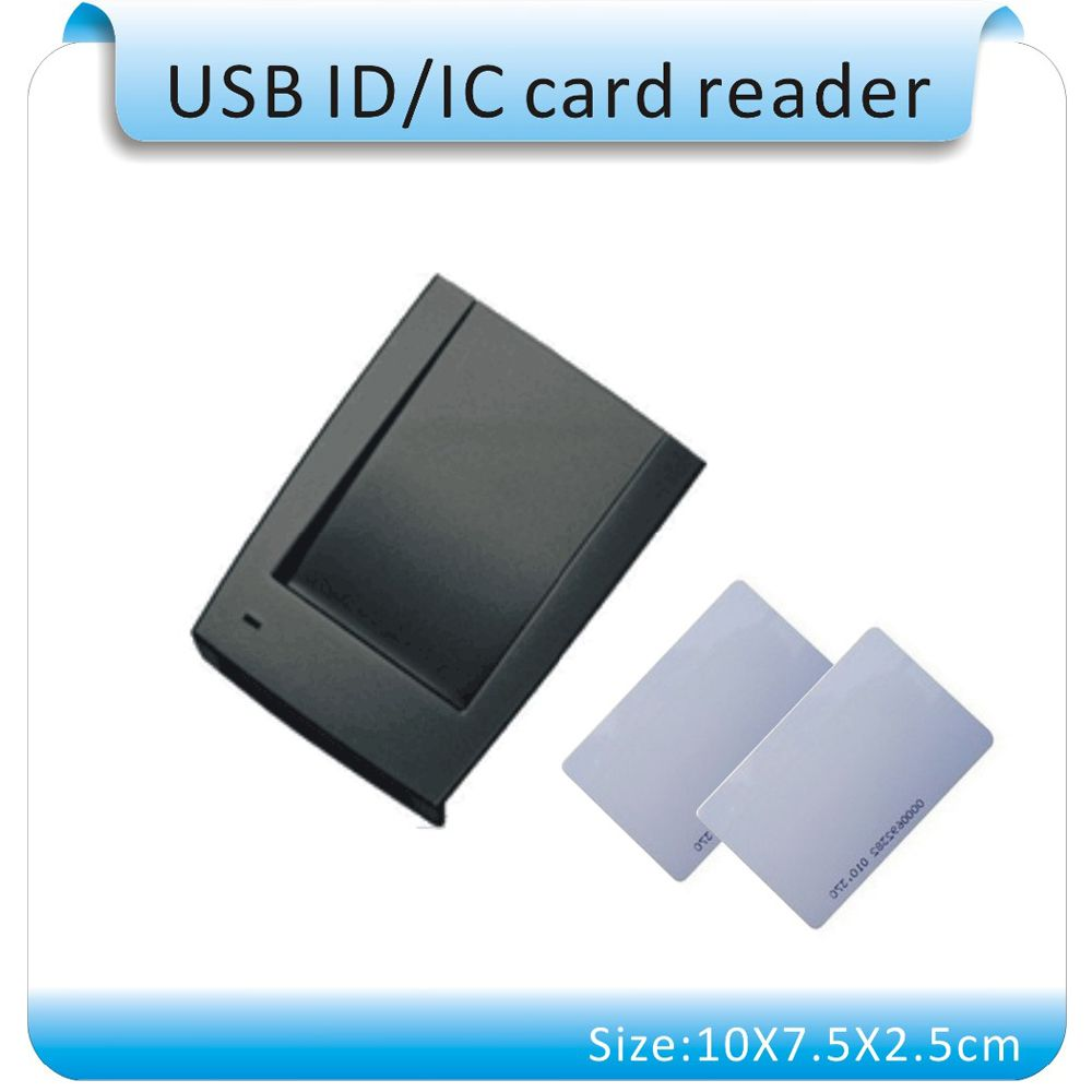 Free Shipping 15 Style Output Format English Software 125khz Frequency Rfid Card Reader Usb Port Text Output 10 Cards Card Reader Usb Cards
