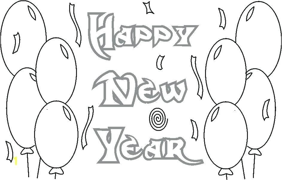 20+ Free Printable Happy New Year Coloring Pages for Kids