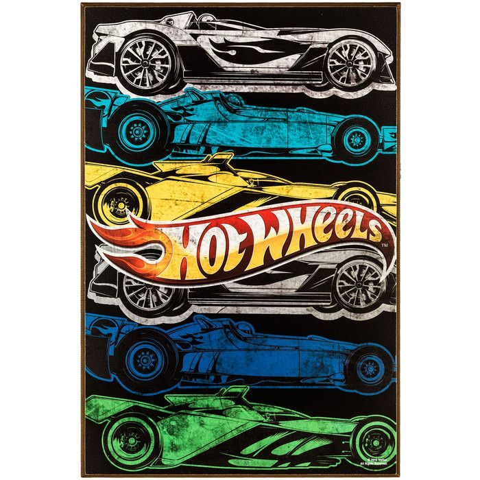 Hobby Crafts & Decor - Hot Wheels MDF Wall Art | For the Home ...