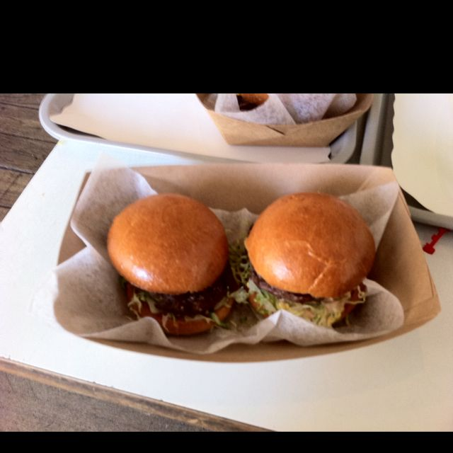Mini burgers @ pop burger
