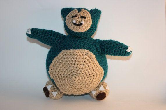Amigurumi Pokemon Snorlax : Snorlax Crochet Amigurumi Plush Toy Inspired by Pokemon by ...