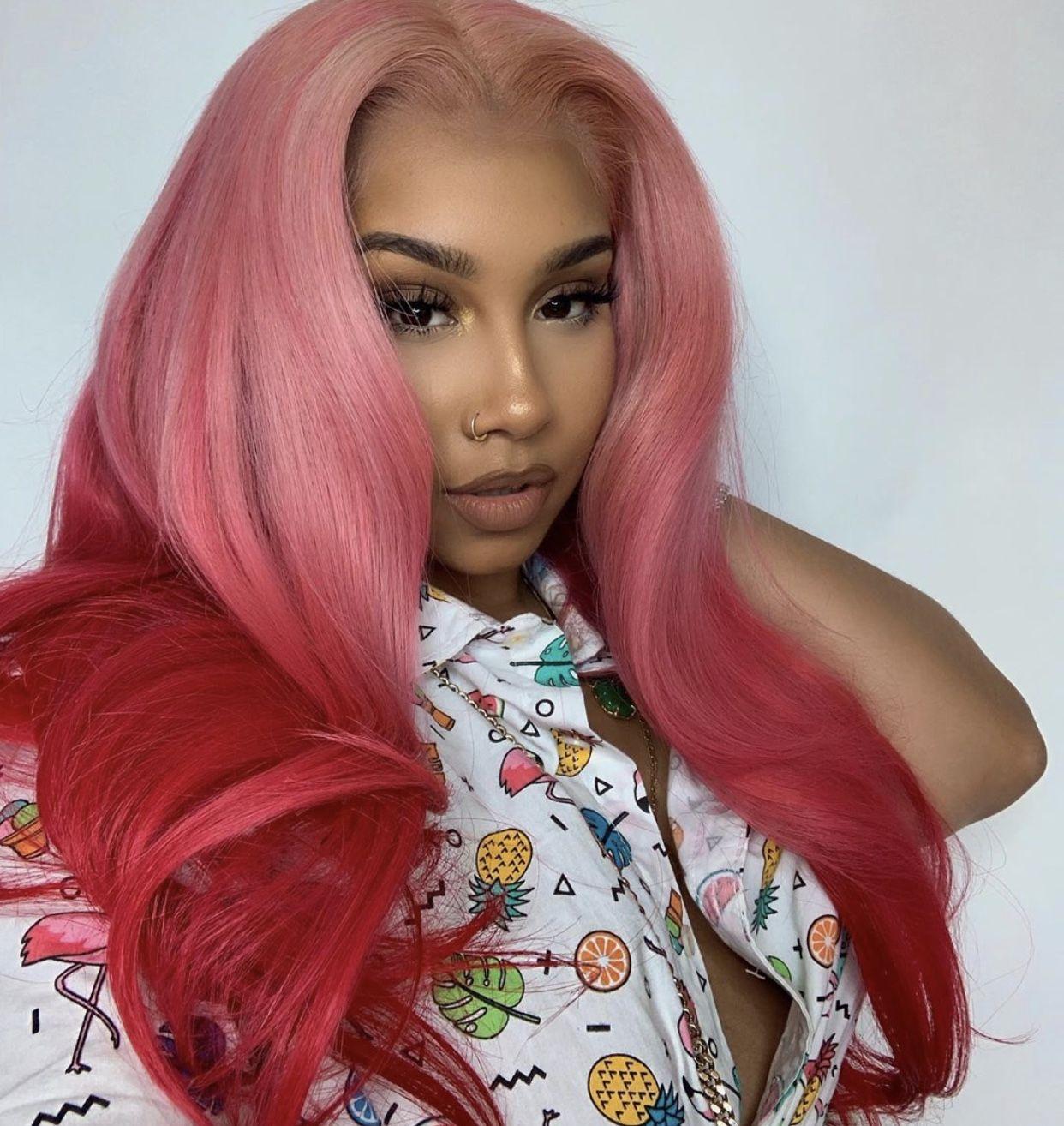 Pin By Christina L Dixon On Anayal8ter Human Virgin Hair Pink Hair Hair Styles