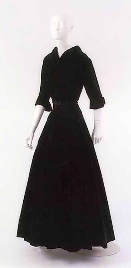 Chanel 1954 Design By Gabrielle Coco Silk Dress Fall Winter Collection The Metropolitan Museum Of Art