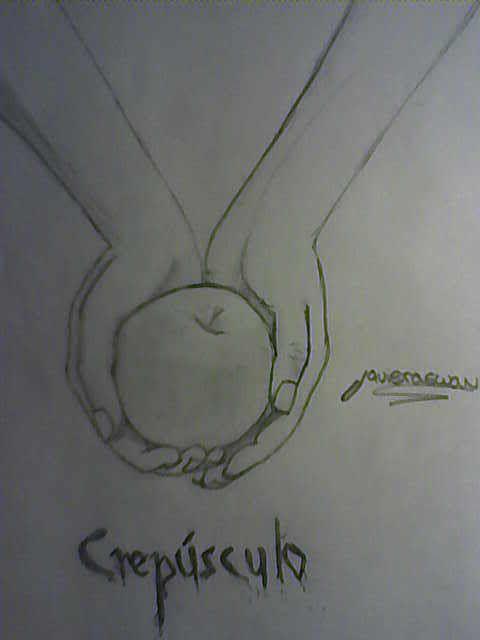 dibujo a lapiz de la manzana y la mano de crepusculo  Buscar con