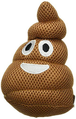 Foufit 85437 Poop Emoji Plush Dog Toy With Squeaker Click On The