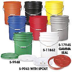 5 Gallon Bucket Plastic Bucket In Stock Uline Plastic Buckets Food Grade Buckets Plastic Pail
