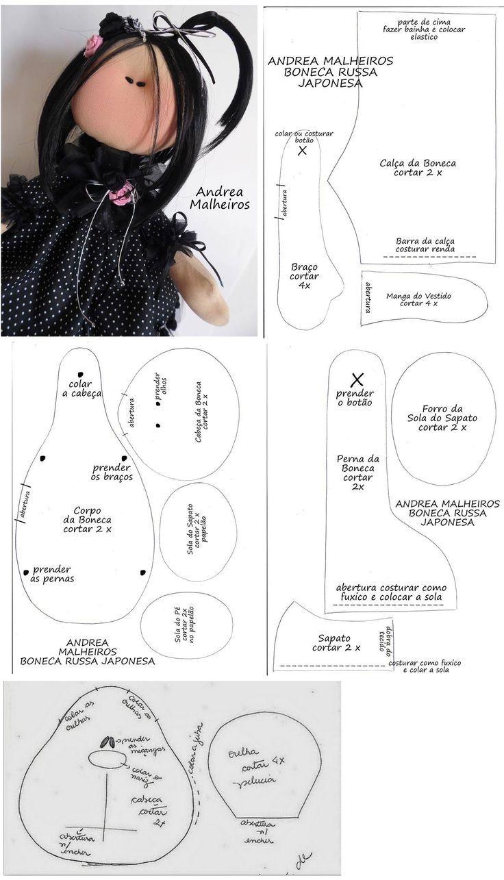 Pin de susana hernandez en peluches | Pinterest | Muñecas y Bordado