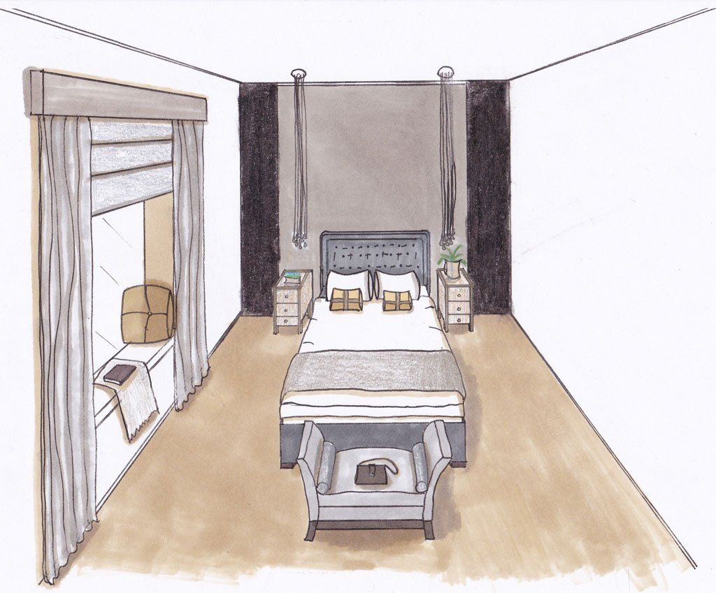 One Point Perspective Worksheet Kitchen Two The