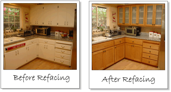 kitchen cabinet refacing phoenix refacing before after kitchen cabinets of stuff 19421