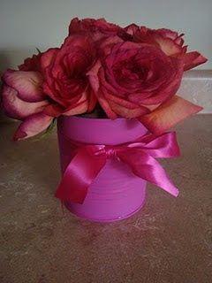 Formula Can vase how adorable!