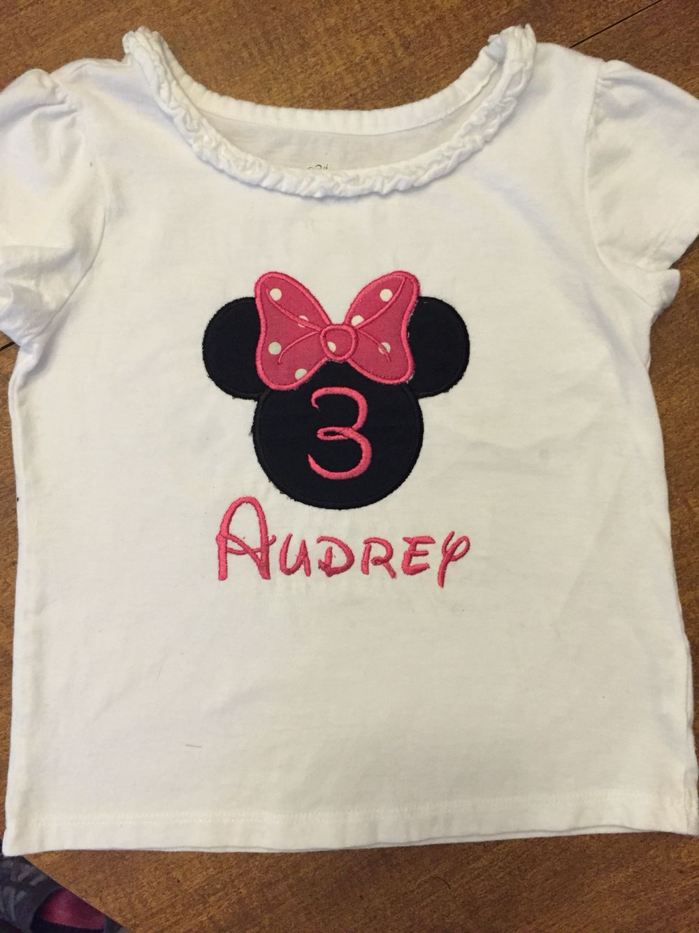 Minnie Mouse Birthday Shirt | Stuff I Made | Pinterest
