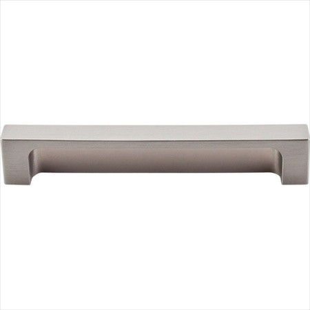 top knobs modern metro 5 inch center to center cup cabinet pull brushed satin nickel cabinet hardware pulls cup