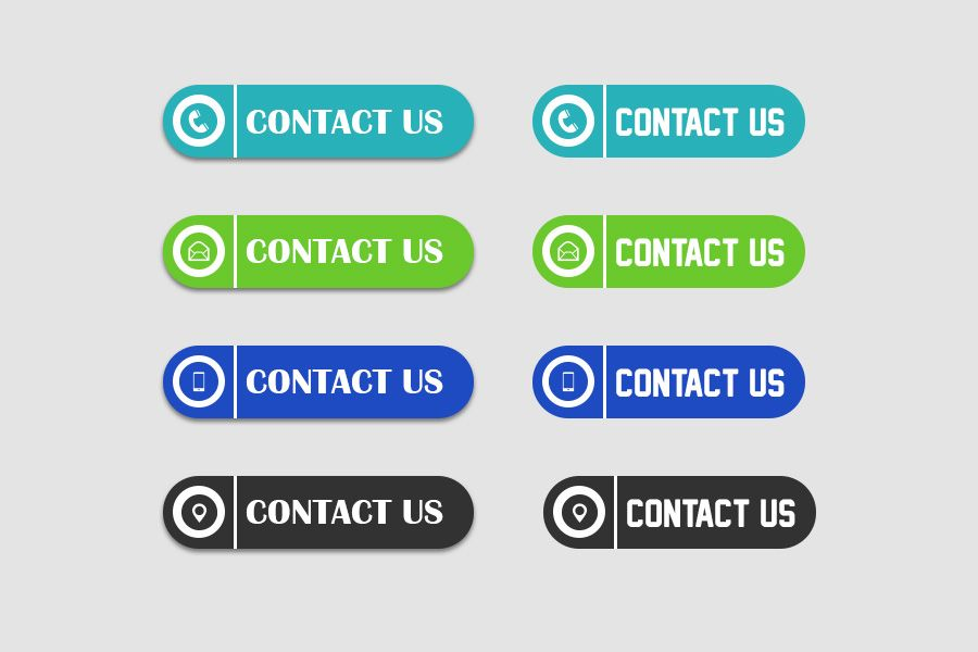 Contact Us Button Icons Buttons For Website Buttons Free Icon Set