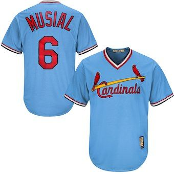 da45fb256 Stan Musial St. Louis Cardinals Majestic Cool Base Cooperstown Collection  Player Jersey - Light Blue