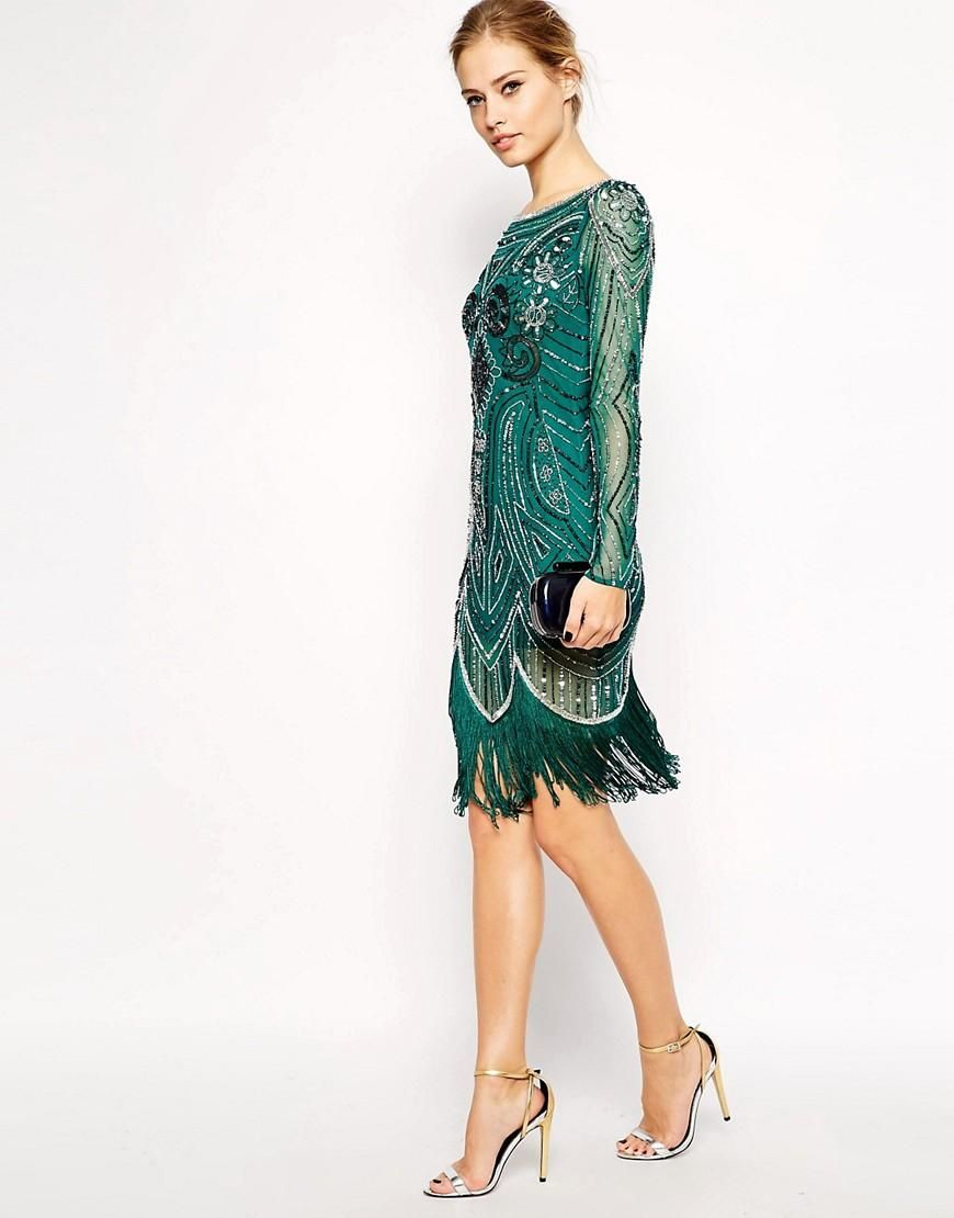 Frock and Frill   Frock and Frill All Over Embellished Dress with ...