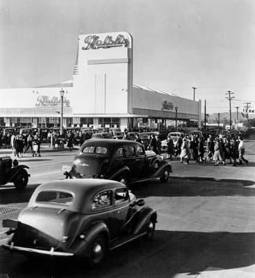 These new stores were designed in the Streamline Moderne style, a variant of art deco, which utilized such design elements as rounded corner...