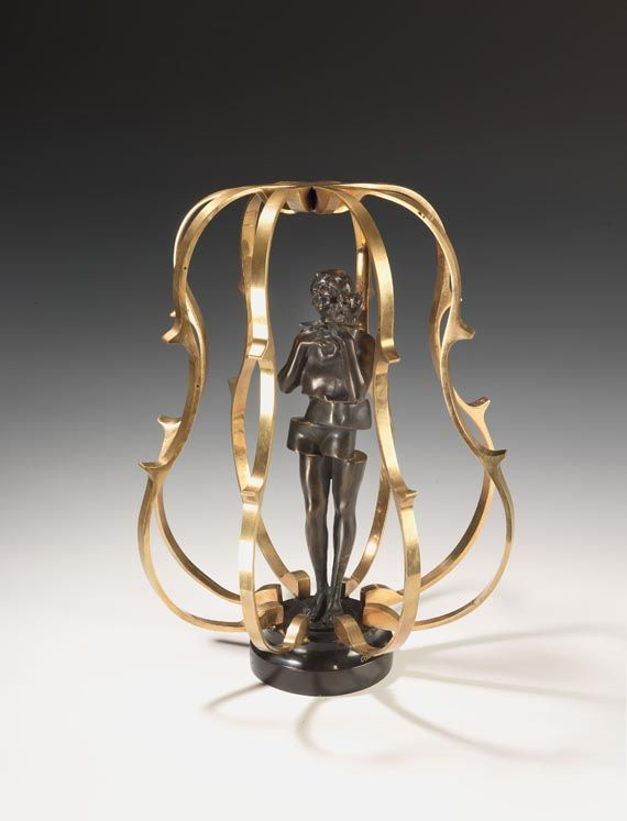 Arman, In the heart of Music, gilt bronze
