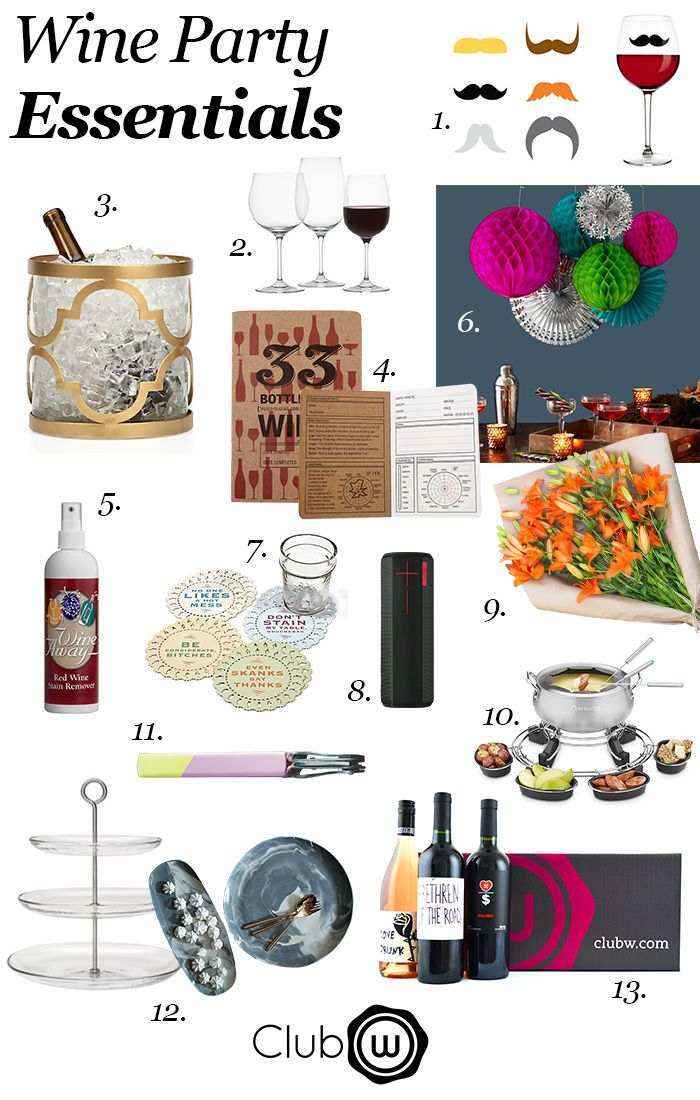 The List Wine Party Essentials The Winc Blog Wine Parties Wine Tasting Party Wine And Cheese Party