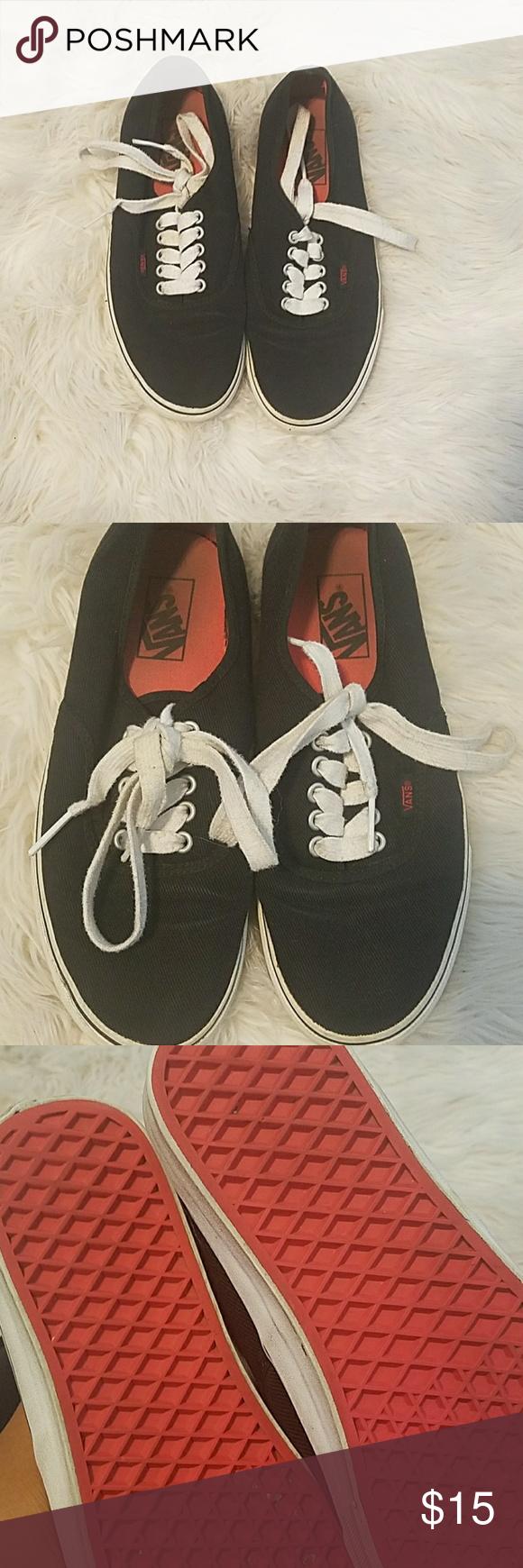 Black vans, Red bottoms, Vans