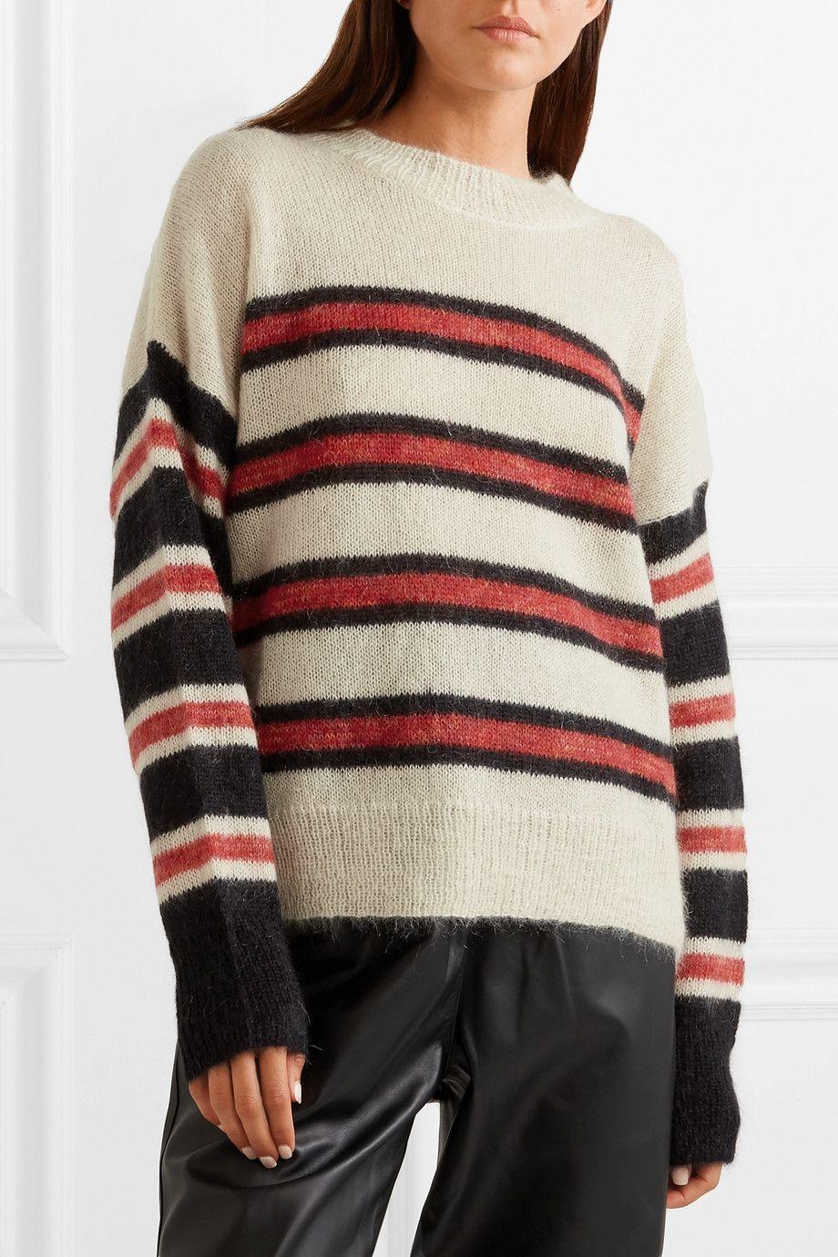 f9a857a96f Isabel Marant Étoile | Russell striped mohair-blend sweater |  NET-A-PORTER.COM