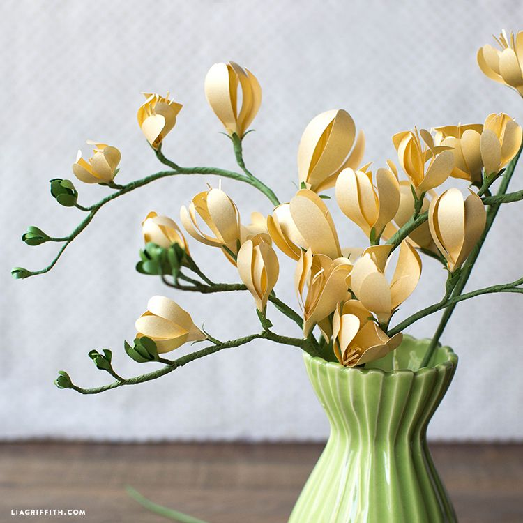 Freesia Paper Flower Lia Griffith Paper Flowers Wafer Paper Flowers Handmade Flowers Paper