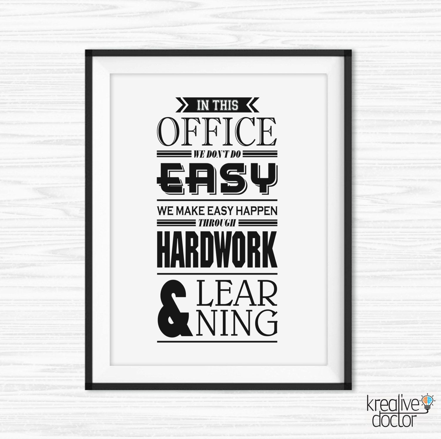 Office Wall Art Motivational Poster Inspirational Canvas Quotes Decor Printable Sayings For