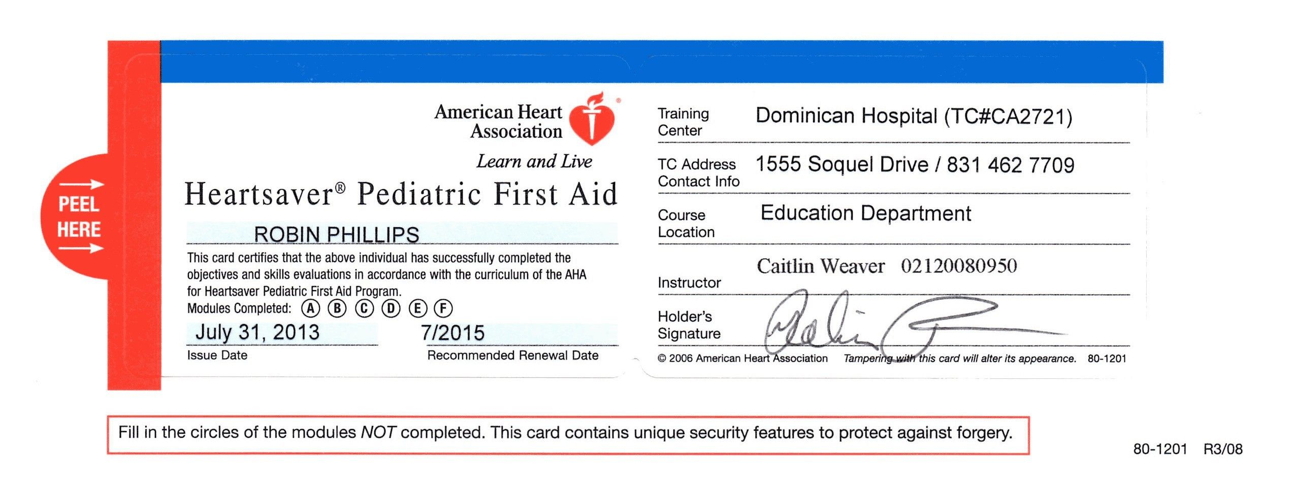 First Aid Certificate Template Free Certification Cpr Card Template In 2021 Cpr Card Certificate Templates Business Card Templates Download