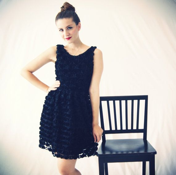 Black Rosettes Dress