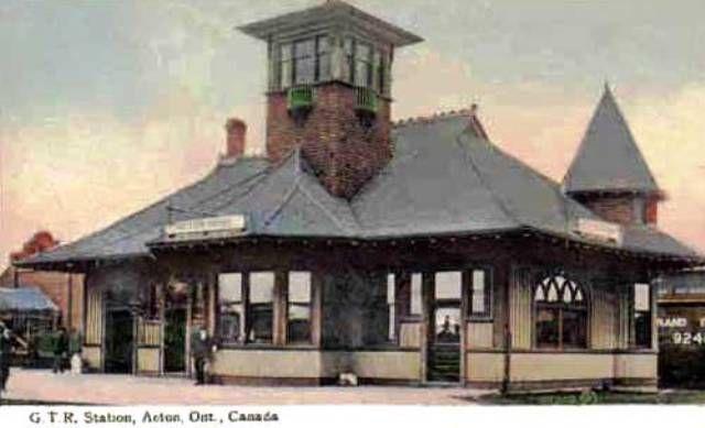 ACTON, Ontario - Grand Trunk RR station