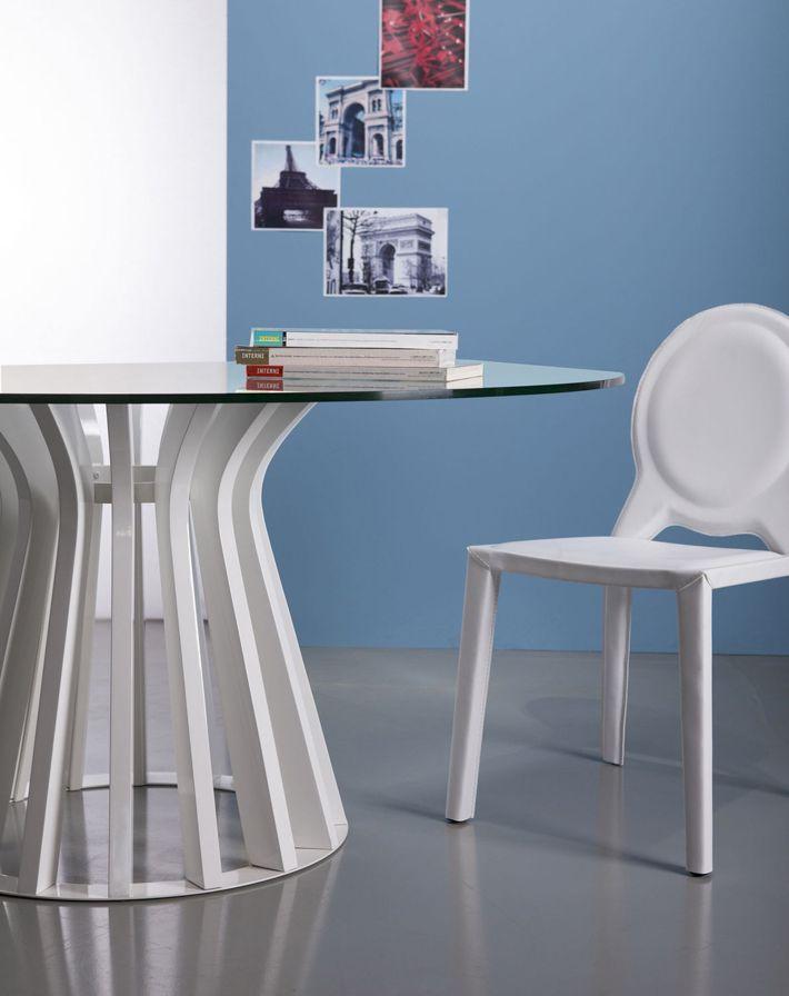 Las mejores mesas de comedor de cristal | mesas+sillas | Pinterest ...