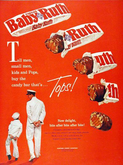 1961 Baby Ruth Chocolate Bar original vintage ...