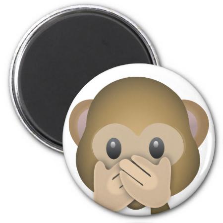 Speak No Evil Emoji Refrigerator Magnets Monkey Emoji Kiss Emoji Emoji