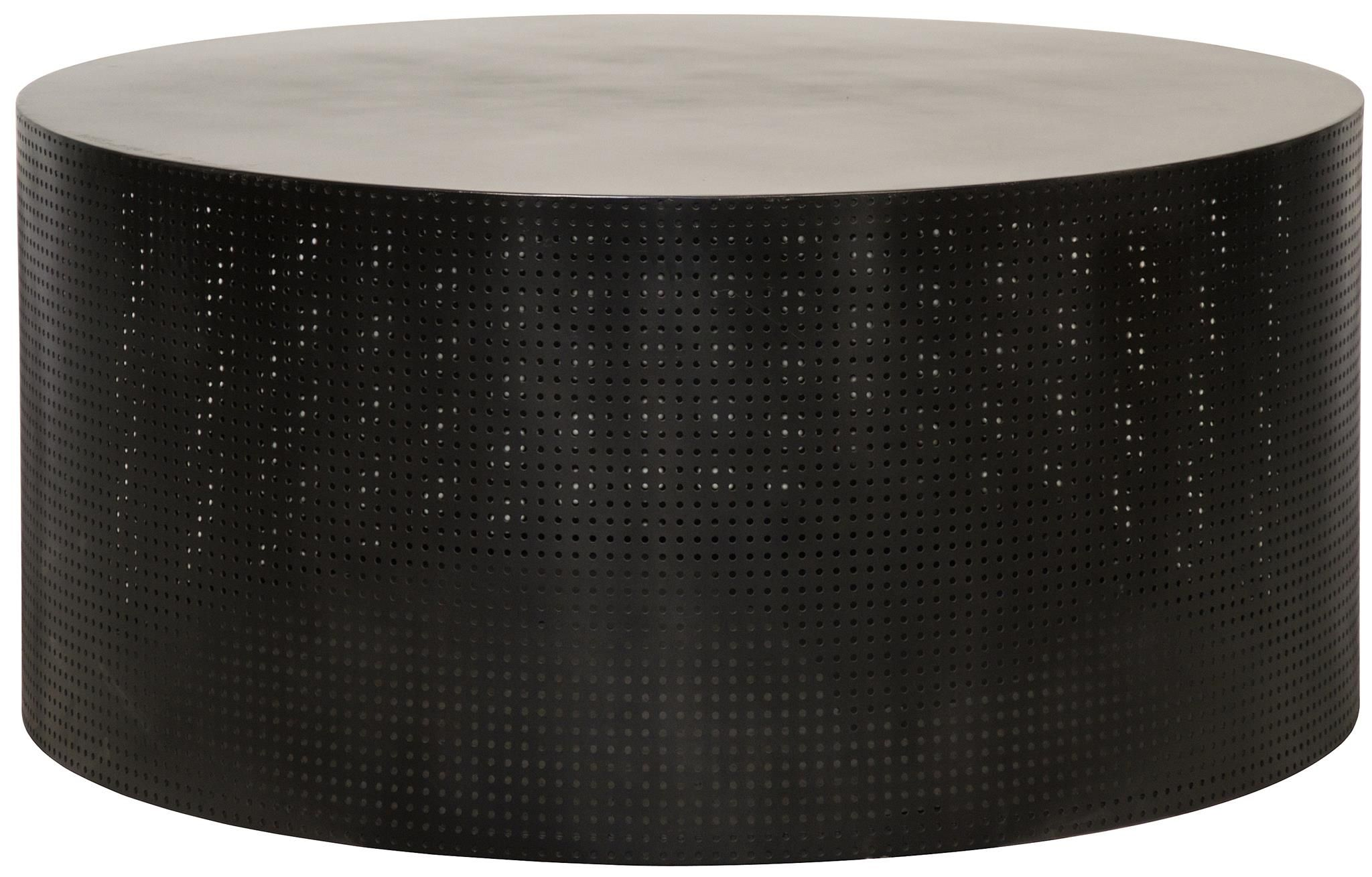 "Dixon Table 40"" diam Marble round coffee table, Drum"