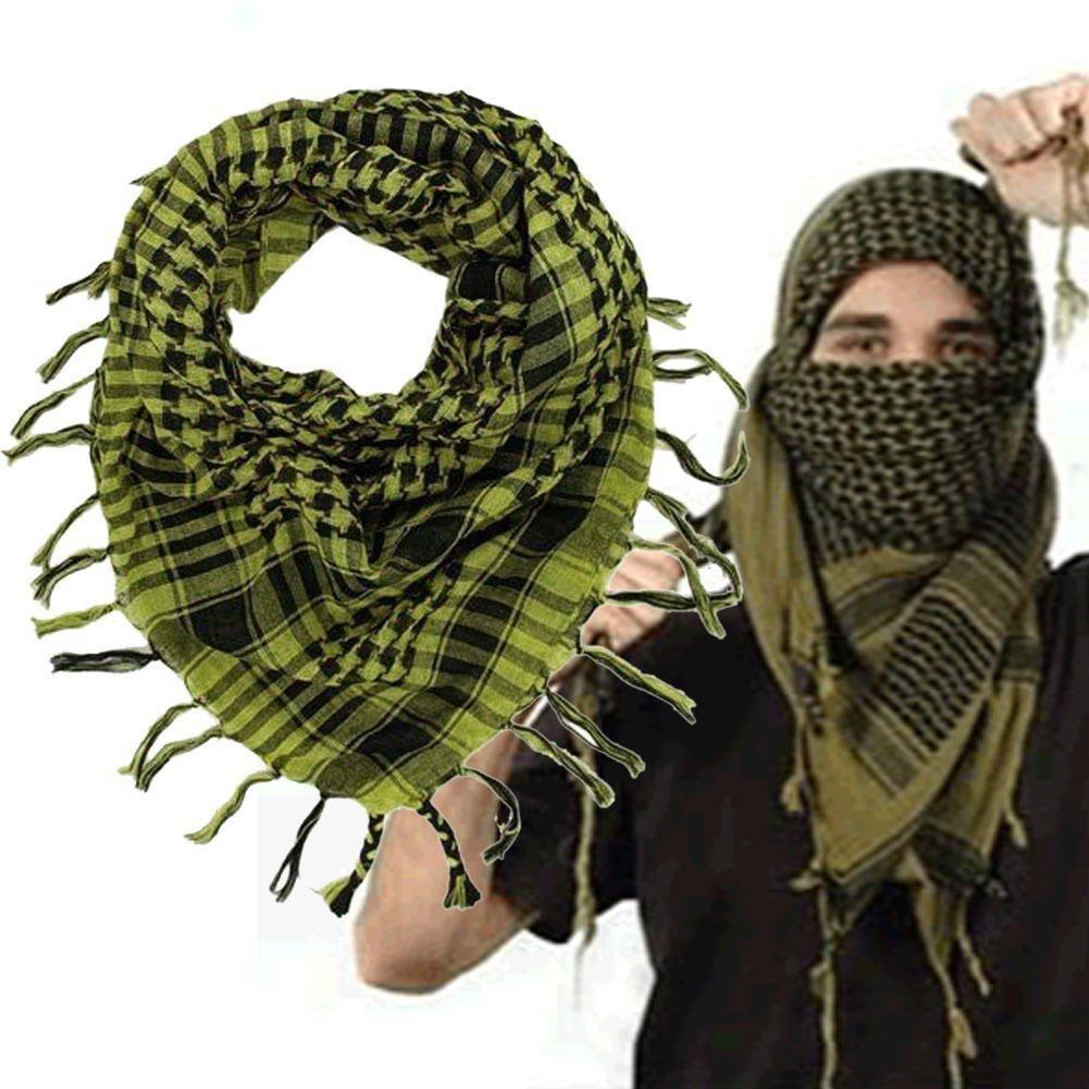 Original Unisex Arab Scarves Men Women Winter Military Windproof Scarf 100% Cotton Thin Muslim Hijab Tactical Desert Arabic Plaid Scarf Apparel Accessories