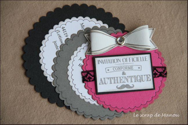 invitations manouscrap carterie pinterest anniversaires cartes et urne anniversaire. Black Bedroom Furniture Sets. Home Design Ideas